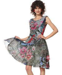 001011c61ad Desigual barevné šaty Vest Karuka
