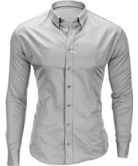 Ombre Clothing Pánská jednobarevná šedá košile Drake. 599 Kč 45f4ed9c57