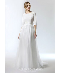 28885681322 Helen Fontaine IVORY BOHO PURE STYLE WITH GREY TULLE SKIRT