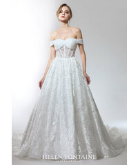 bd4b1e685ec Helen Fontaine OFF-THE-SHOULDER WEDDING GOWN IN STYLISH LACE