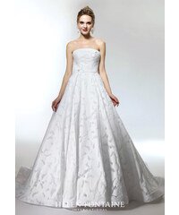 d261cf2eccc Helen Fontaine IVORY STRAPLESS WEDDING GOWN WITH BEADED FLOWER