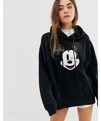Levis Levi s X Mickey Mouse graphic oversized hoodie - Mickey hoodie caviar d9c4ee9ad7