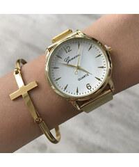 Zlaté dámské hodinky z chirurgické oceli  7957085259f