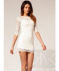 Dámské krajkové Šaty Bílé - bílá