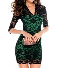 Dámské krajkové Šaty zelené - zelená