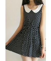 Dámské letní šaty Sime puntíkované - černá