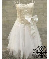 Dámské plesové/svatební šaty Paulo bílé - bílá