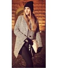 Dámský jarní/podzimní vlněný kabát Gray - šedá