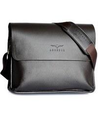 Pánská kožená taška přes rameno Agoneir hnědá - hnědá