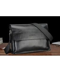 Pánská kožená taška přes rameno Feger černá - černá