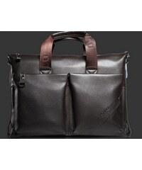 Pánská kožená taška přes rameno Polo hnědá - hnědá