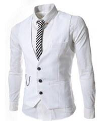 Pánská společenská vesta Vulo bílá - bílá
