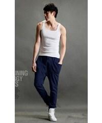 Pánské Sportovní Fitness Kalhoty Modré - modrá