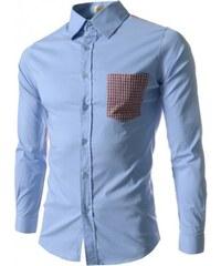 Pánská košile Slim Fit Marco bledě modrá AKCE - modrá