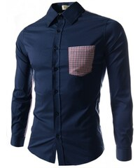 Pánská košile Slim Fit Marco modrá SLEVA - modrá