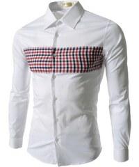 Pánská košile Slim Fit Rubby bílá SLEVA - bílá