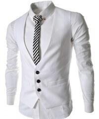 Pánská společenská vesta Gauso bílá - bílá