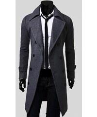 Pánský dlouhý kabát Libero šedý - šedá
