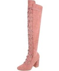 81a85e8fbc EU Růžové kozačky nad kolena