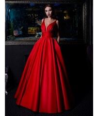 7104e6f92f2 Marizu fashion nádherné červené saténové maturitní