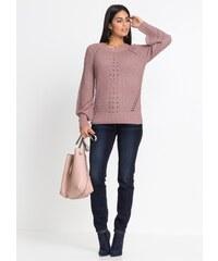 bonprix Hrubě pletený svetr s ažurovým vzorem 1babb105fa