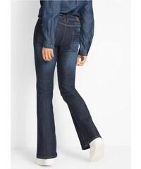 Modré bootcut dámské kalhoty - Glami.cz 0691cf3746