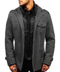 Šedý pánský zimní kabát Bolf 88801 68e8b809ba7