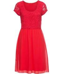 Červené šaty s krajkou  fbf7eb34dd