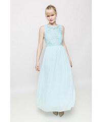 Rouzit Elegantné dlhé šaty s čipkovaným topom a50ed4d7044