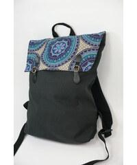 S radostí - vlastní výroba Dámský módní batůžek modrá dekorace - mandala 9e782dcacd