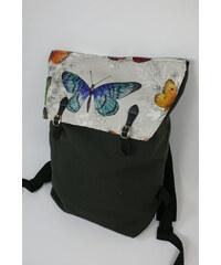 S radostí - vlastní výroba Dámský módní batůžek motýlci 2ae46a6e4b