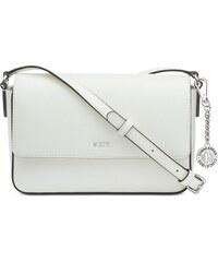 7ba40474b0 DKNY Donna Karan DKNY Bryant flap kožená crossbody kabelka white silver