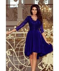 9401ca773a49 Dámske šaty Numoco 210-4 s čipkou kráľovská modrá