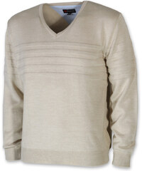 fea32c7b35d Willsoor Pánský béžový svetr z vlny merinos 10266
