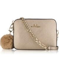 Wittchen kožená kabelka na rameno crossbody zlatá 662 189fac235f7