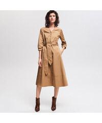 Reserved - Zvonové šaty - Béžová b57891faa9f