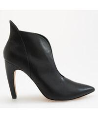 e61563ff9cf9 Reserved - Členkové topánky s hlbokým výrezom - Čierna
