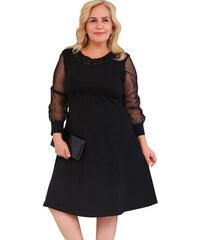 NoName Dámské společenské šaty krajkové černé volné XL 23632bdb18