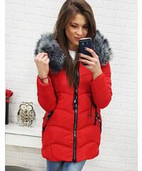 ac0d0fa75879 DStreet bunda dámská (ty0516) zimní prošívaná kapuce kožešinka