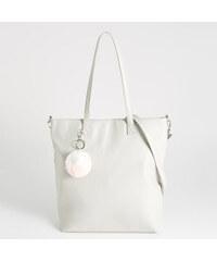 Sinsay - Shopper taška s brmbolcom - Svetlošedá 49ccc669d21