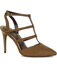 ca73f8710287 Khaki Dámske sandále na podpätku - Glami.sk