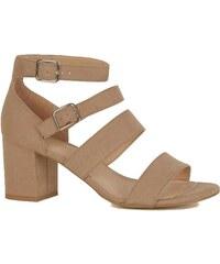 ba4b4fbbc384 NEW LOOK Páskové semišové sandále
