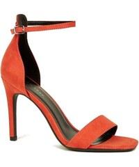 5cdf6040c2 NEW LOOK Semišové sandálky na ihlovom podpätku