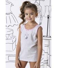 COTONELLA Dívčí spodní košilka bavlněná Lily šedá dac7aae0ad