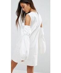 ASOS bílé košilové mini šaty 6e6ca52922