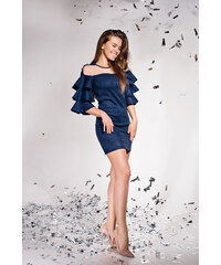 LaraRuby.sk Bella-Dámske šaty s volánmi na rukávoch a0e984dcad6