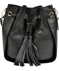 Goshico Kožená vyšívaná kabelka do ruky i na rameno FANCY - Glami.cz 90aea36df2e
