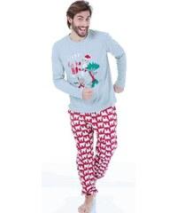 a95589c34c1c Happy people pyžamo pánské 3611 šedočervené
