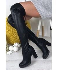 31b8cfd180 Webmoda Dámske čižmy nad kolená