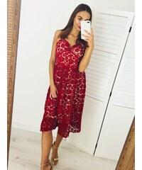 5d0b9b4385 Webmoda Dámske čipkované šaty Tia